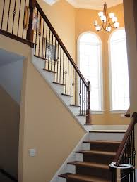wrought iron balusters staircase mediterranean with spanish style