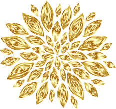 gold flowers gold flower petals variation 2 icons png free png and icons