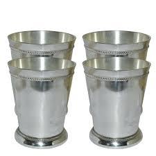 designer stainless steel silver coating tumbler gift set of 4
