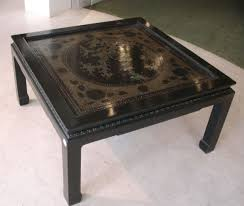 coffee table black low coffee table mid century black lacquered