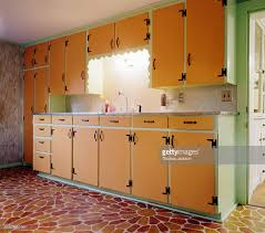 art deco style kitchen cabinetry stock photo getty images
