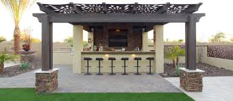 Patio Kitchen Design by Outdoor Kitchen Designs With Pergolas