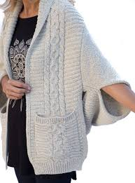 cable sweater beige cable sweater shrug with pockets is now available in our shop