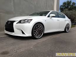 lexus white gs savini wheels