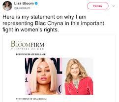 blac chyna leaked blac chyna attorney lisa bloom puts rob kardashian on notice