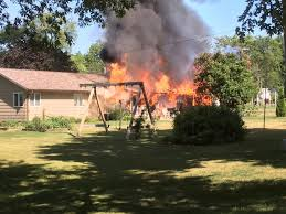 large garage man hospitalized after large garage fire in maxwell whotv com
