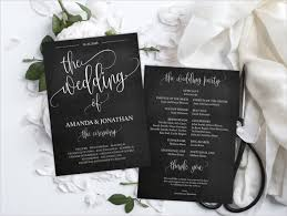 Wedding Program Examples 36 Personalized Wedding Designs