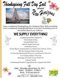 new horizons breakaway charters thanksgiving day sail