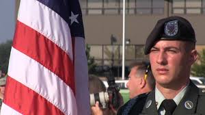 Flag Folding Ceremony Flag Folding Ceremony At Arlington Funeral Stock Video Footage