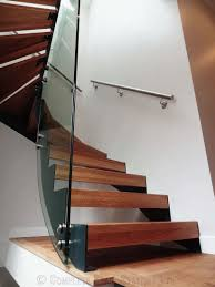 chrome banister rails fancy modern wooden staircase design with glass divider and chrome