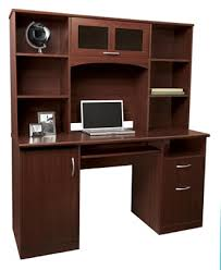 realspace landon desk with hutch cherry by office depot u0026 officemax