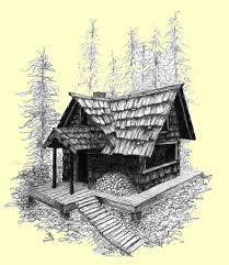 log cabin drawings little old log cabin