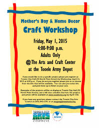 mother u0027s day and home decor craft workshop 2015 tooele city