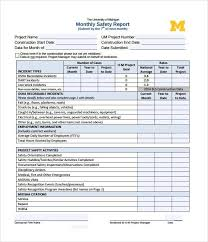 monthly project report template project status report template 8