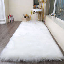 Fur Area Rug Shag Flokati Faux Leather Fur Sheepskin Rugs Ebay