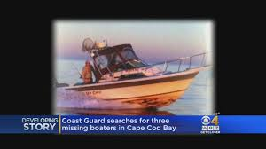 coast guard searches for missing boaters in cape cod bay youtube