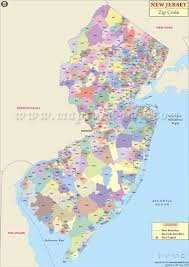 Map Of New York And Pennsylvania by New Jersey Zip Code Map New Jersey Postal Code