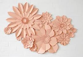 paper flower set of 13 handmade paper flowers by may contain glitter