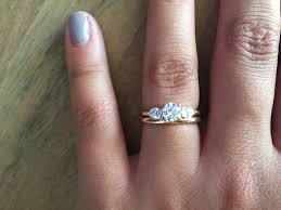 my wedding band carat moissanite solitaire engagement ring set diamond and
