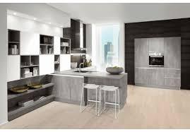 cuisine effet beton cuisine moderne effet béton au style loft