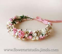 hair wreath pink floral crown rustic wedding wreath bridal flower crown