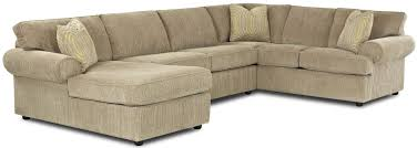 Roll Arm Chaise Transitional Sectional Sofa With Rolled Arms And Left Chaise And