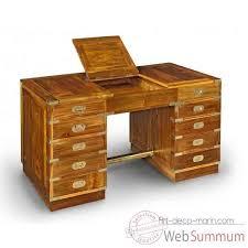 bureau caissons en teck massif avec poignees dans meuble de