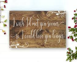 above the bed sign love you longer bedroom wall decor