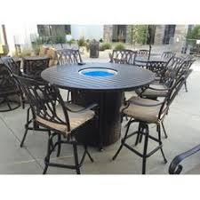 Bar Height Fire Table Gas Fire Patio Table