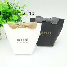 favor boxes for wedding aliexpress buy 100pcs lot merci beaucoup white black color