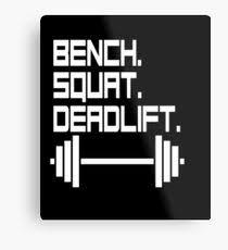 Bench Squat Deadlift Deadlift Wall Art Redbubble