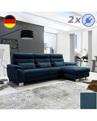 canapé et pouf assorti canapé méridienne tissu 2 assises relax électrique pouf coffre