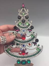 czech rhinestone christmas mantle tree 707 165 00 cydneys