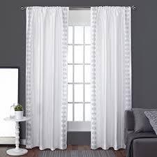 Black And White Draperies White Pattern Curtains Amazon Com