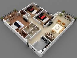 Flat Plans Home Design Bedroom Apartment Floor Plans 3d 3 Bedrooms