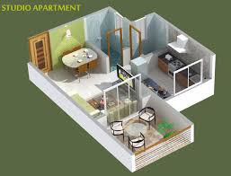 One Bedroom Apartment Plans And Designs Enchanting Studio Apartment Plan Photos Best Ideas Exterior
