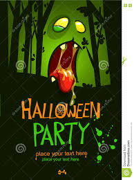 zombie halloween invitations halloween design template zombie face and place for text on dark
