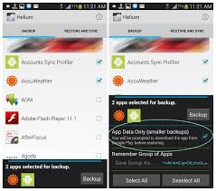 apk only how to backup apps and data without root using helium android app