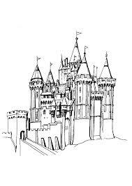 coloriage d u0027un beau château