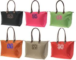 longchamp black friday monogrammed nylon tote featured at babybox com