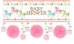 carousel baby shower pink carousel baby shower decorating kit party city canada