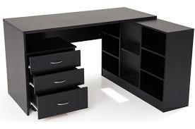 bureaux pas cher bureau en imitation bois noir avec retour flash bureau pas cher