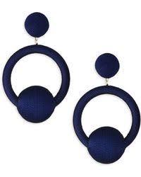 hoop la earrings de ravenel hoop la la earrings in blue lyst
