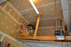 suspended garage storage loft inspiration in home designing