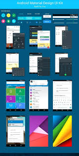 layout download android template android layout design template material kit download free
