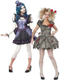 halloween doll costumes adults ladies twisted voodoo doll womens halloween fancy dress