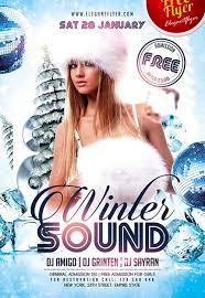 winter flyer template free downloadable winter wonderland flyer