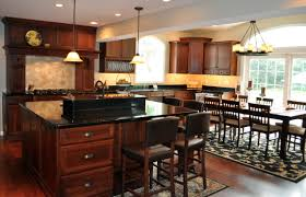 stunning cherry kitchen cabinets black granite countertop with