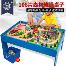 thomas the train wooden track table thomas train track toy set wooden long electric roller coaster game