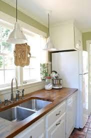 Butcher Block Kitchen Countertops Kitchen With Butcher Block Countertops I Love All Of The White